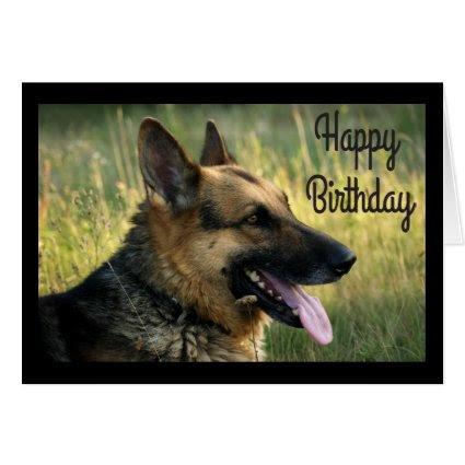 Happy Birthday German Shepherd Puppy Dog Card
