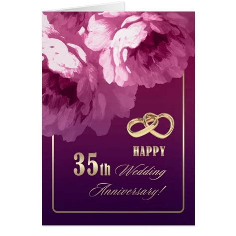 35th Wedding Anniversary Greeting Cards   Zazzle
