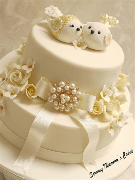 Isobella Golden Wedding Anniversary Cake