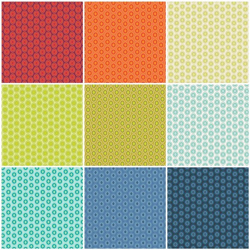 Color Me Retro - Matching Oval Elements by Jeni Baker