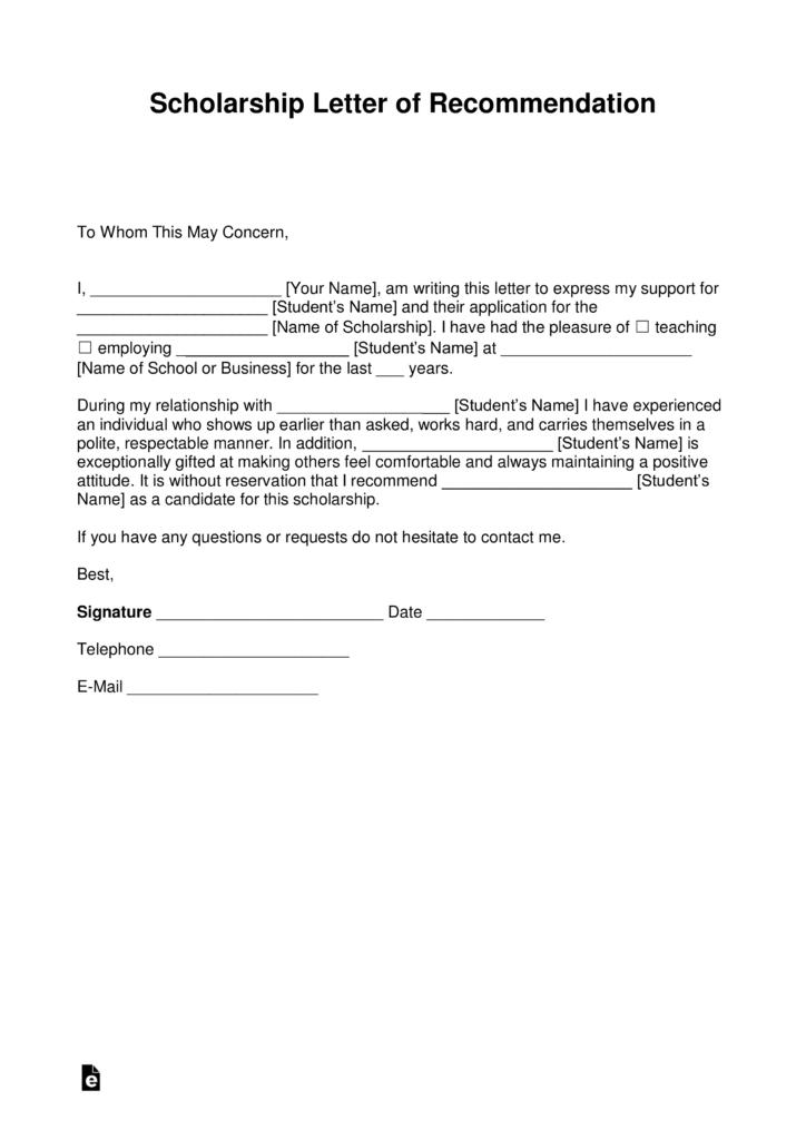 Scholarship Recommendation Letter     Mt Home Arts