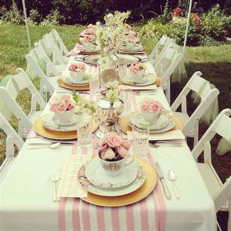 bridesmaids luncheon   Tabletops that rock .   Tea party
