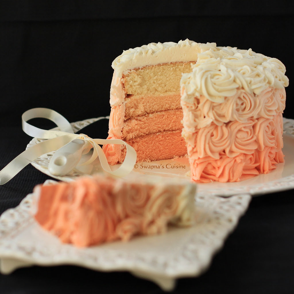 Pink Ombre Rose Cake Recipe