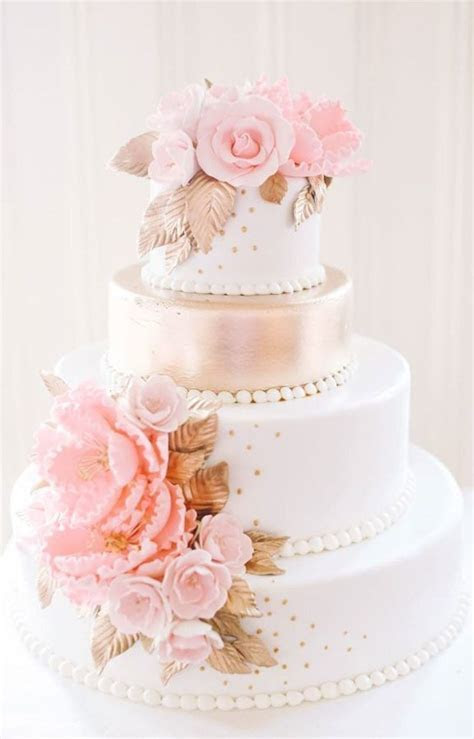 25  best ideas about Blush wedding cakes on Pinterest