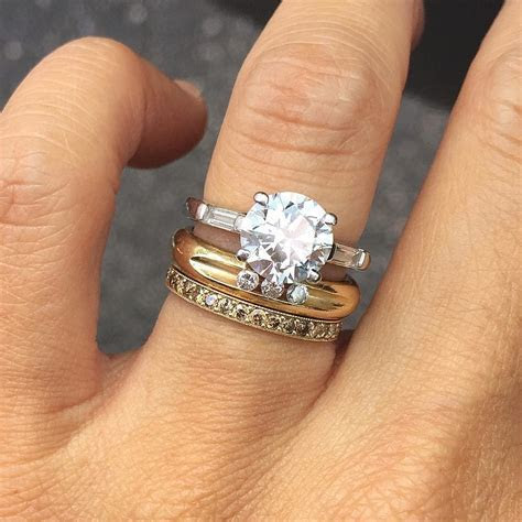 View Full Gallery of Beautiful Wedding Ring Stack