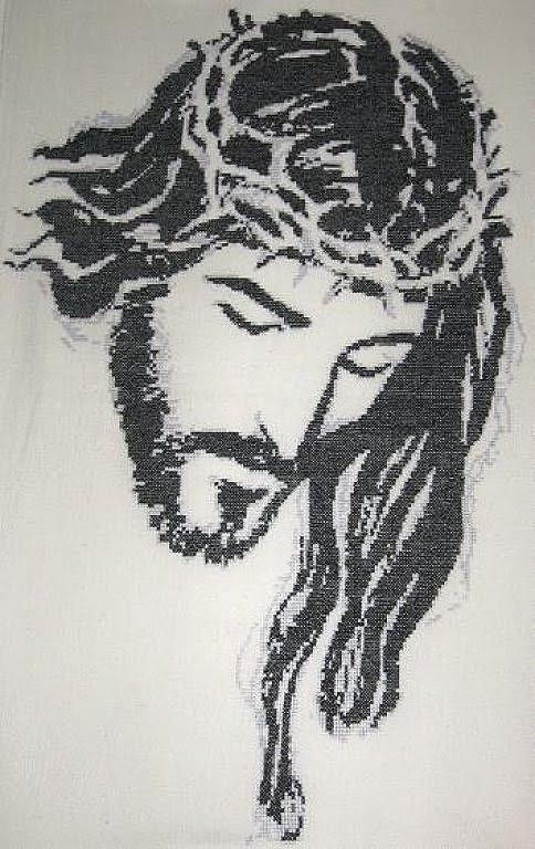 La Cara De Jesucristo A Blanco Y Negro Sorğusuna Uyğun şekilleri