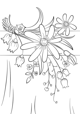 summer flowers coloring page  free printable coloring pages