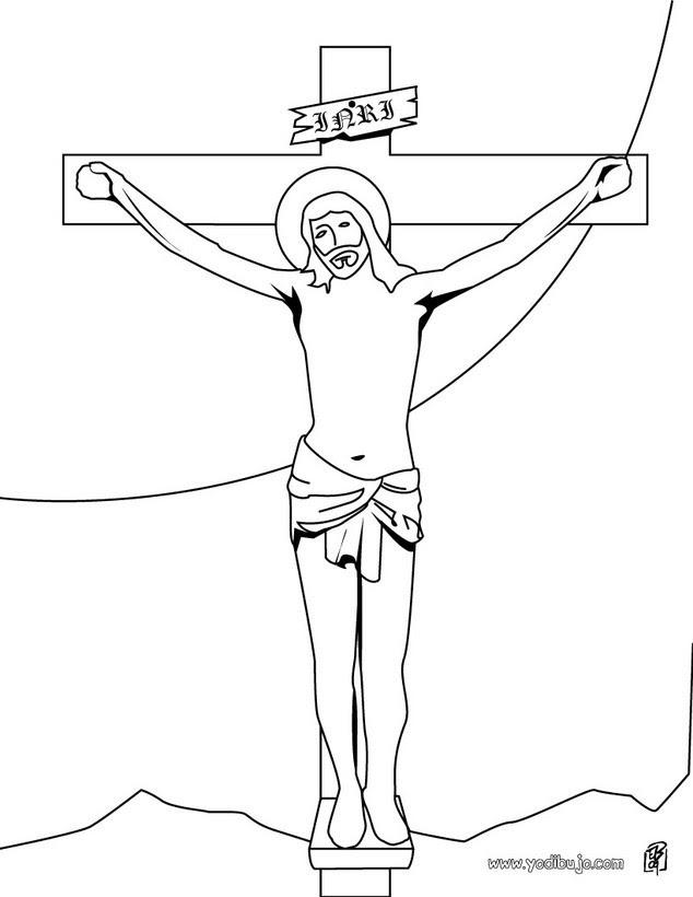 Dibujos Para Colorear Crucifixión De Jesús Eshellokidscom