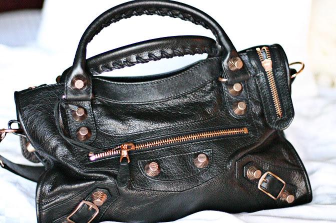 Balenciaga Arena Giant City handbag, Fashion, Color Block Sweater, J Brand Glitter Skinny Jeans