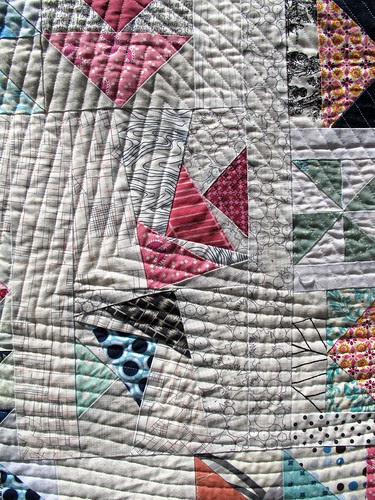 flying geese quilting detail