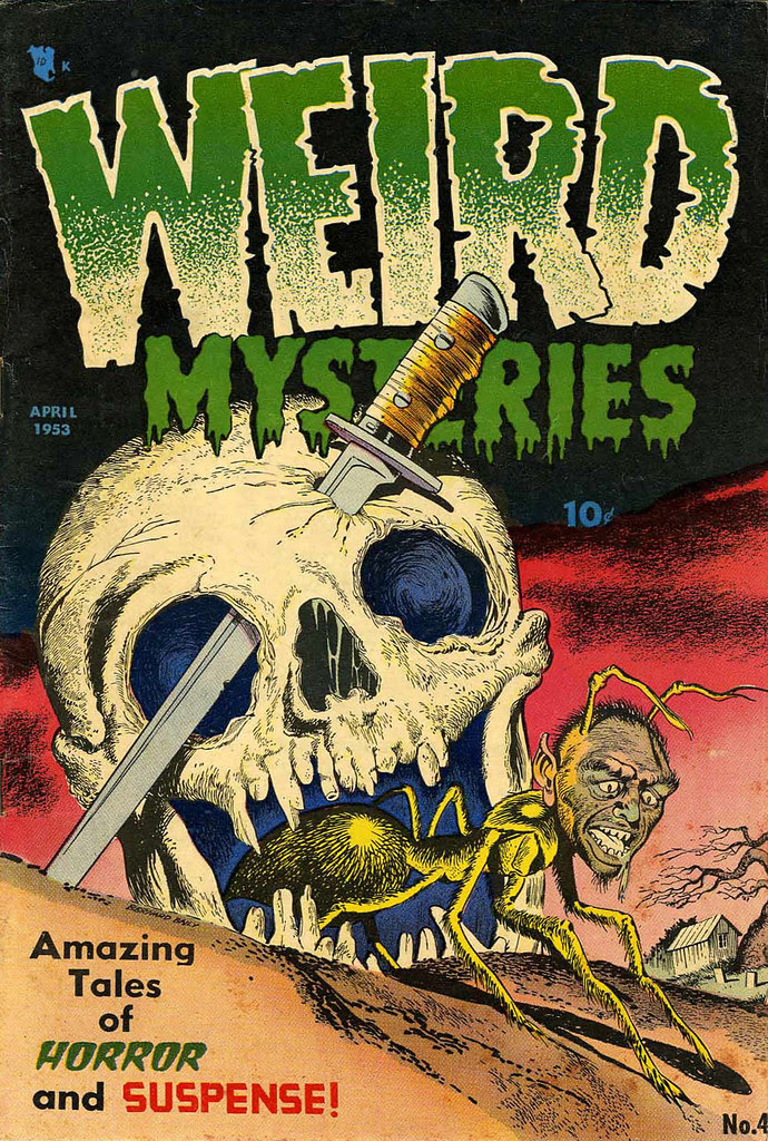 Weird Mysteries #4 Bernard Bailey Cover (Gillmor, 1953)