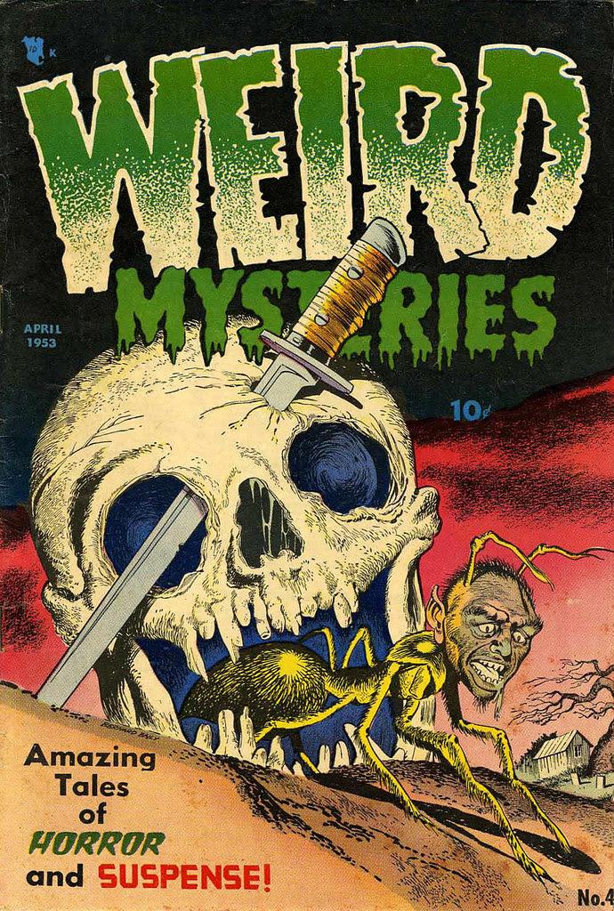 Weird Mysteries #4 Bernard Bailey Cover (Gillmor, 1953)