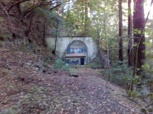 Zayante tunnel, north portal