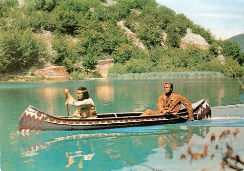 Pierre Brice and Lex Barker in Der Schatz im Silbersee