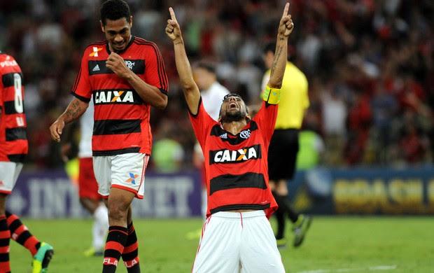 Leo Moura gol Flamengo (Foto: André Durão / Globoesporte.com)