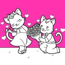 Enamorados Dibujos Para Colorear Juegos Gratuitos Dibujo Para