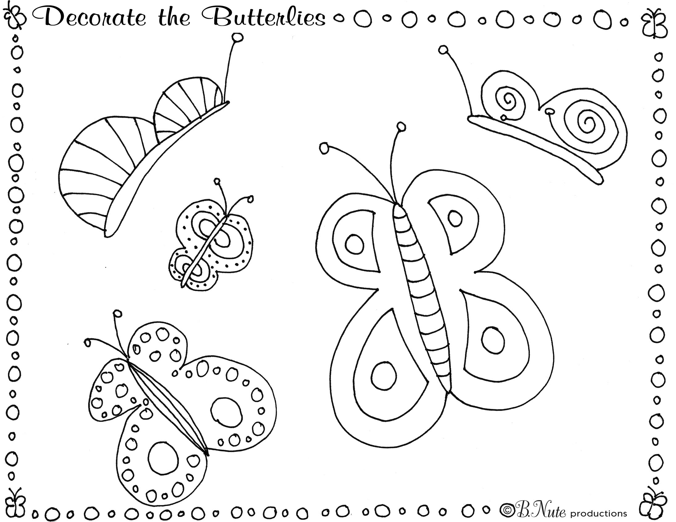 bnute productions: Butterfly Party Game and Art Ideas ...
