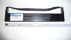 English: Inmac ink ribbon cartridge with black...