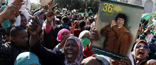 Libyans demonstrated in support of the government opposing the imperialist plot to destabilize the North African oil-rich state. The Obama administration engineered regime-change in this country that once served as chair of the African Union. by Pan-African News Wire File Photos