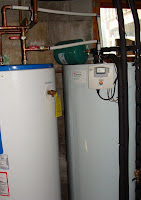 Basement hot water setup
