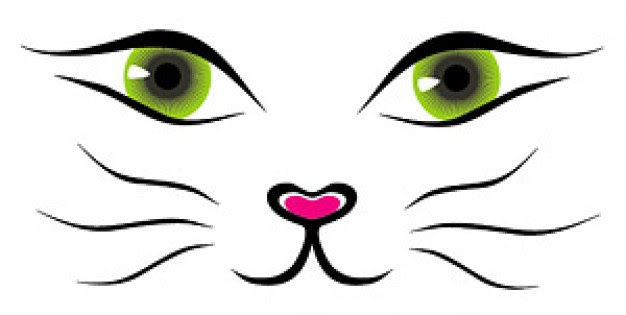 Cat Face Vector Material Vector Free Download Clip Art Library