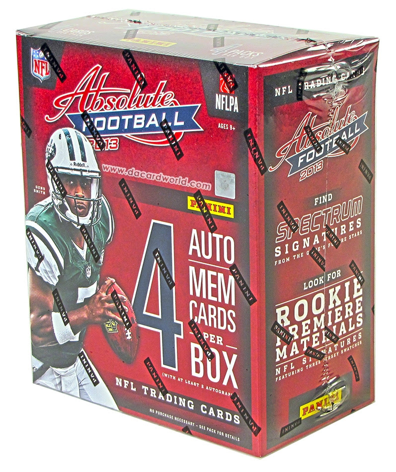2013 Panini Absolute Football Hobby Box  DA Card World