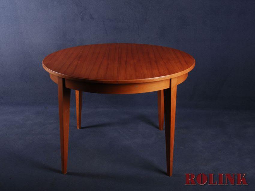 runder  ovaler teak tisch esstisch ausziehbar esszimmer