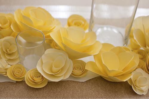 paper flowers mock up