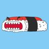 Tokyo Fosho LLC - Mushi the Giant Sushi Stickers artwork