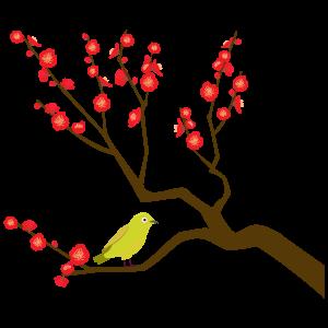 梅の枝の無料イラスト2 花植物イラスト Flode Illustration フロデ
