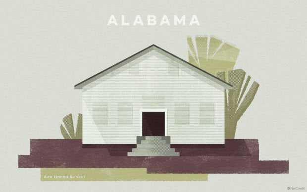 An Illustrated Tribute to the most Endangered Building in Every US state