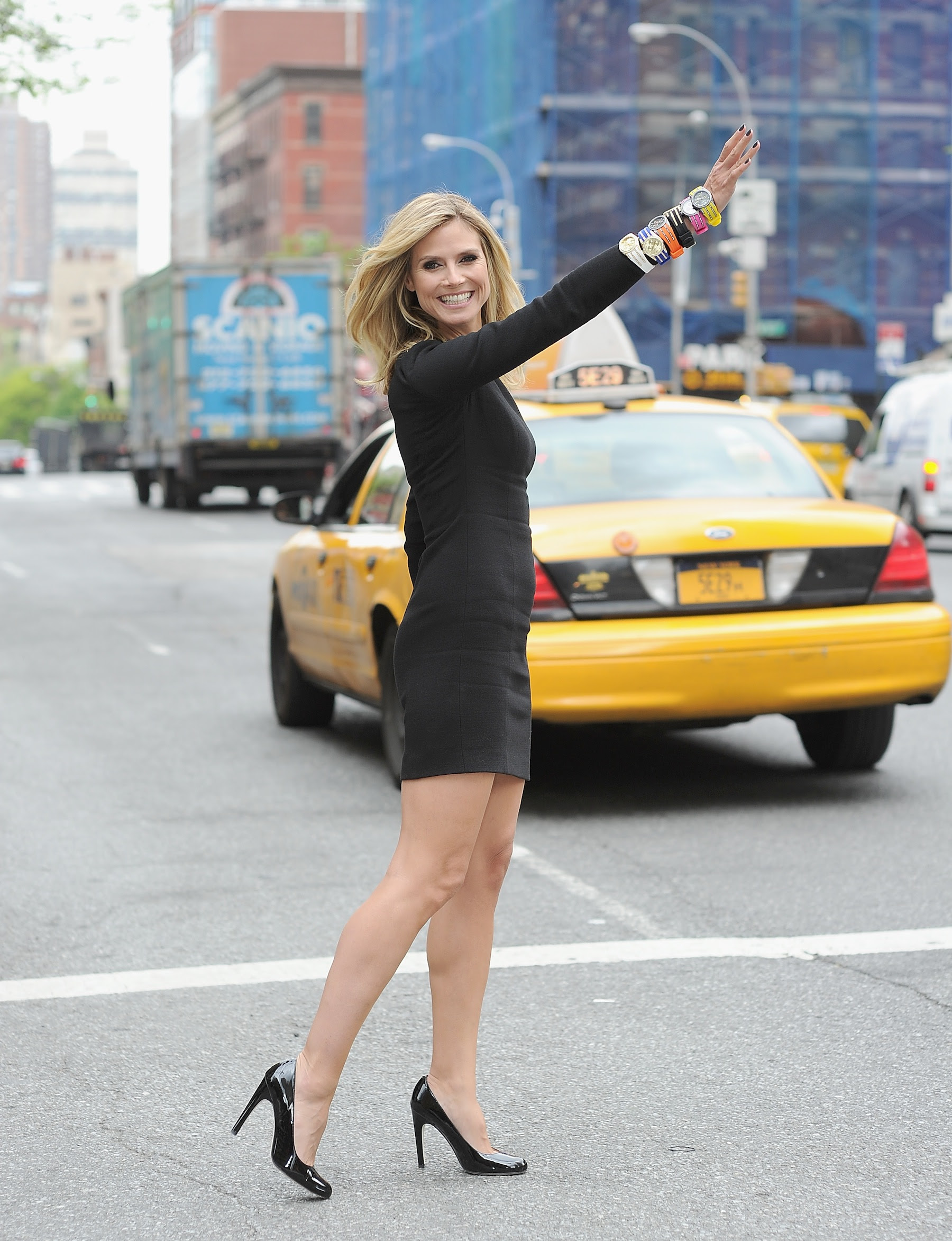Heid Klum in NYC, where she presented additions to the Wildlife by Heidi Klum QVC Collection (Dimitrios Kambouris/Getty Images for QVC)