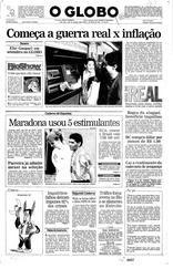 01 de Julho de 1994, Primeira Página, página 1