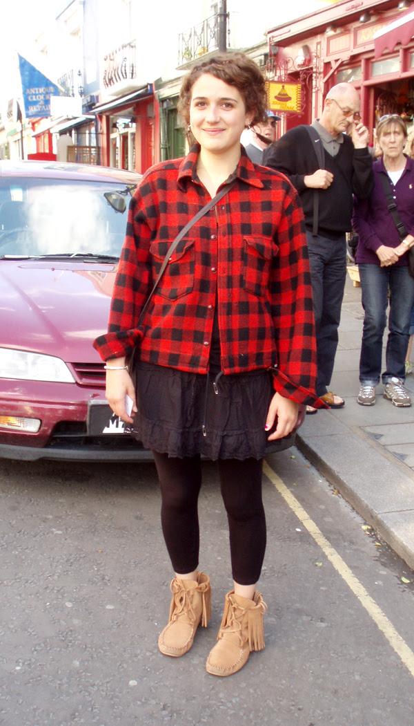 plaid shirt girl