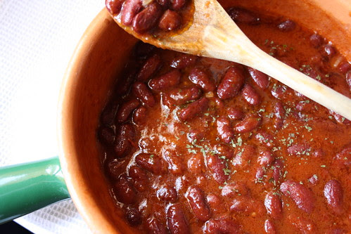 Crema piccante di fagioli rossi e pomodoro