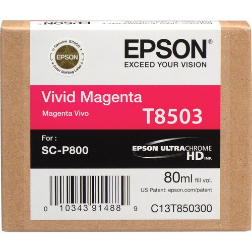 Epson T850 UltraChrome HD 80ml Ink Cartridges