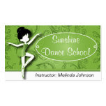 Dance Instructor | Ballet Dancer | Ballerina Double-Sided Standard Business Cards (Pack Of 100)