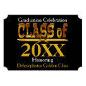 Golden Class of Year Grads Celebration Invite