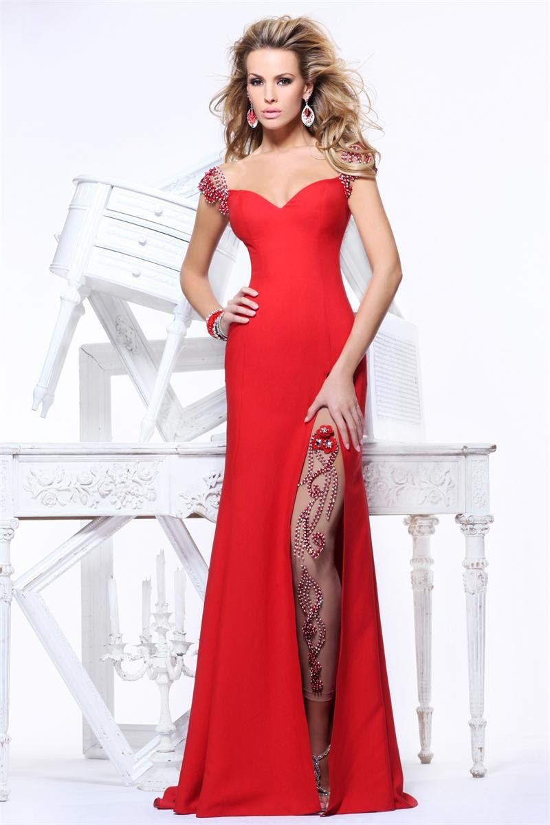 Cheap evening red dresses