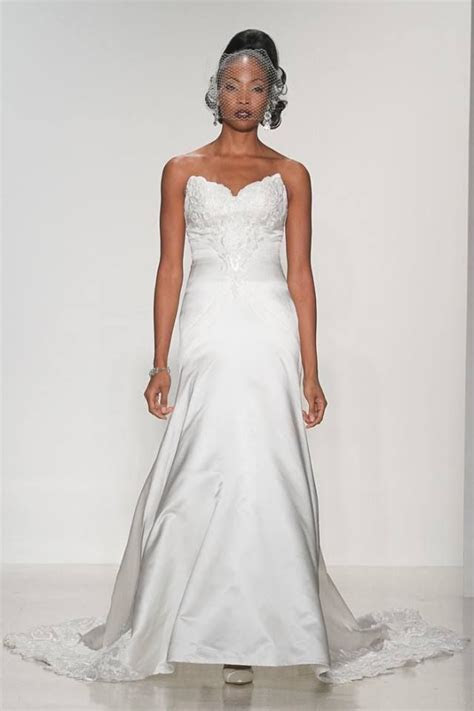 """""""Lillian"""" Gown Model walks runway in a bridal gown from"""