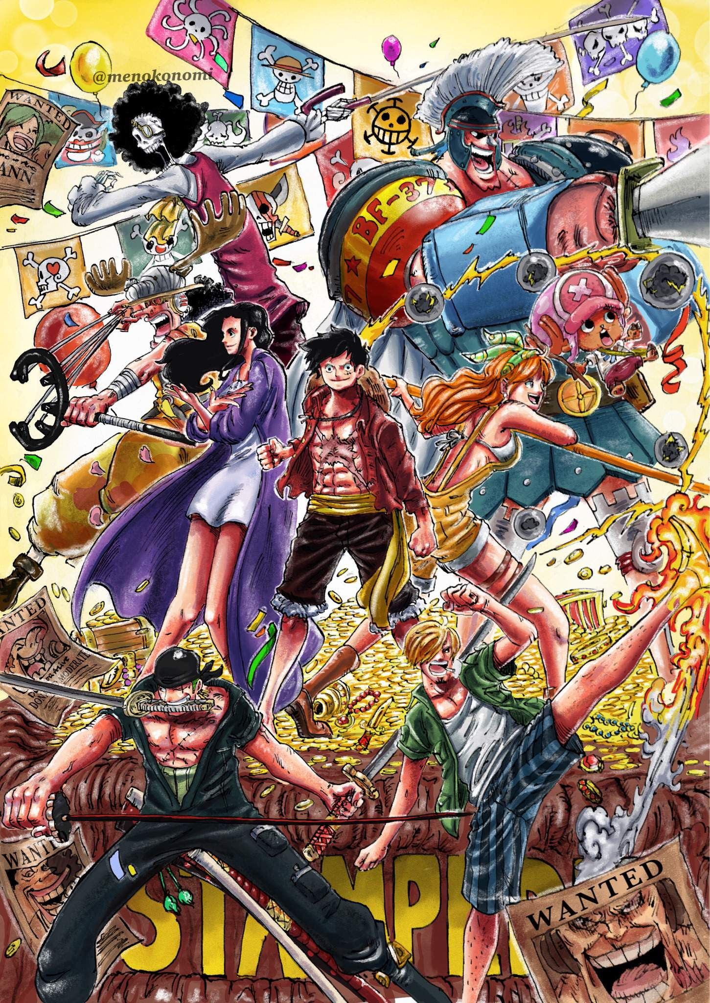 ☠️STAMPEDE☠️ - One Piece Fanart   Anime Amino