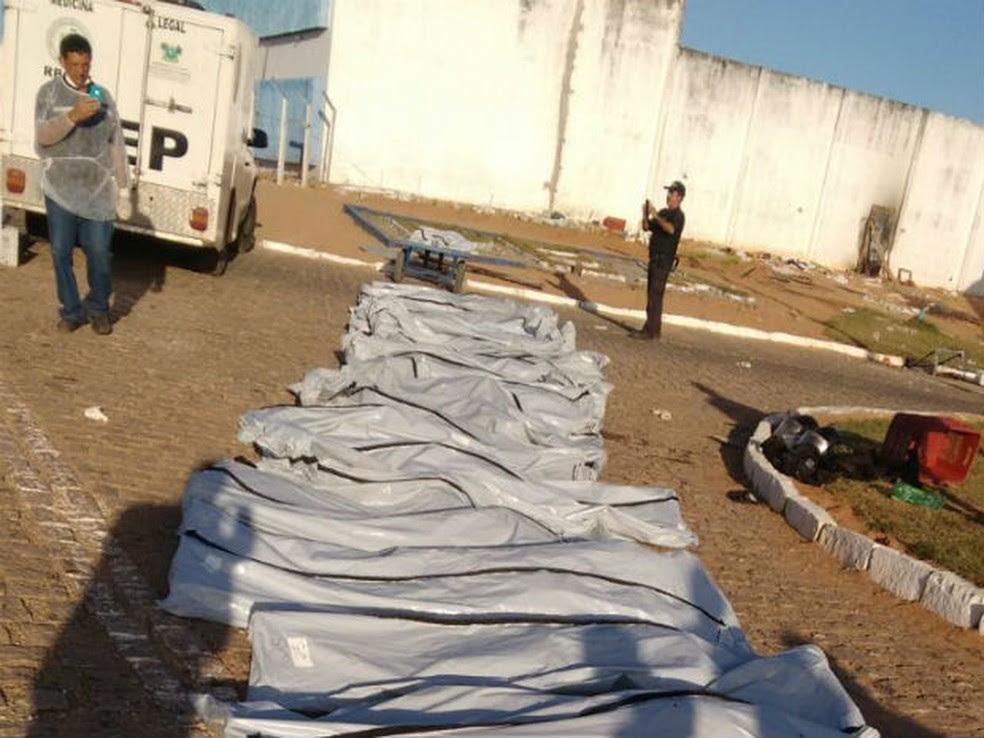 Rebeliões em Alcaçuz terminaram com com 26 presos mortos (Foto: Divulgação/PM)