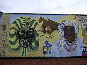 English: Black history mural Another section o...
