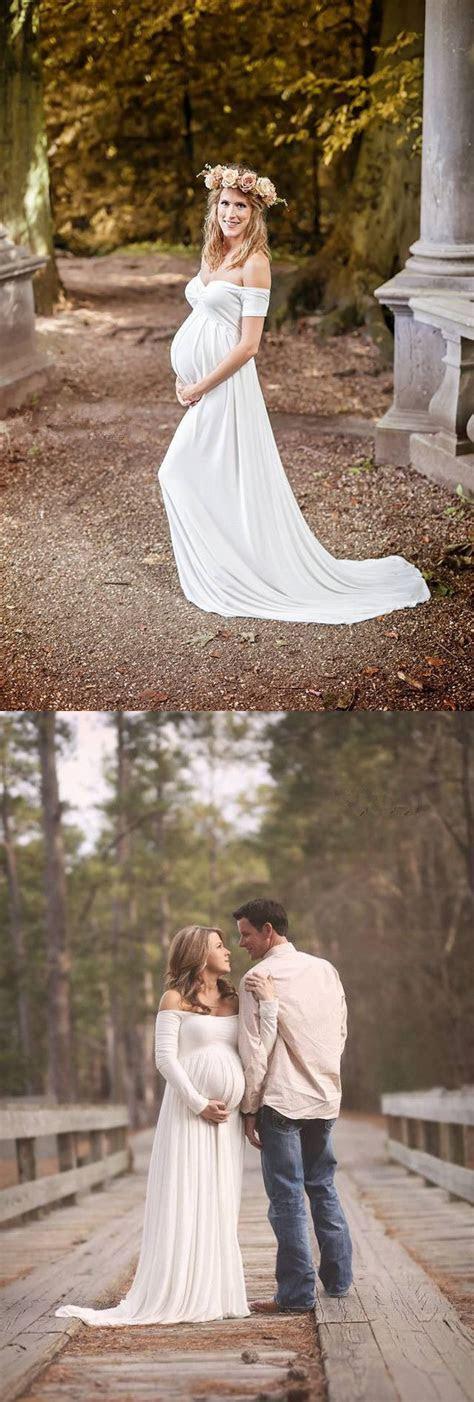 2016 Maternity Wedding Gowns Empire White Soft Chiffon Off