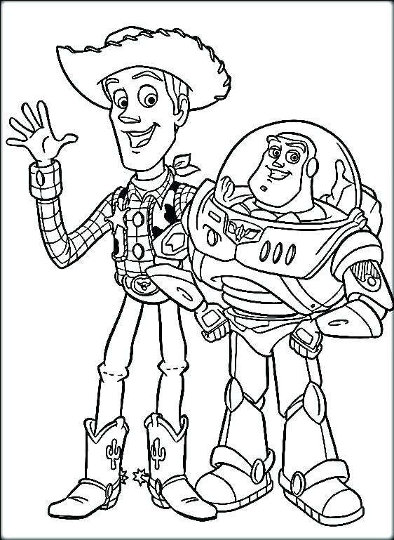 Toy Story Coloring Pages Buzz And Woody at GetDrawings ...