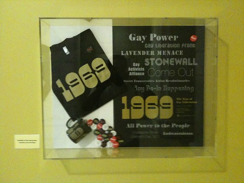 Gay Liberation exhibit poster, NYPL