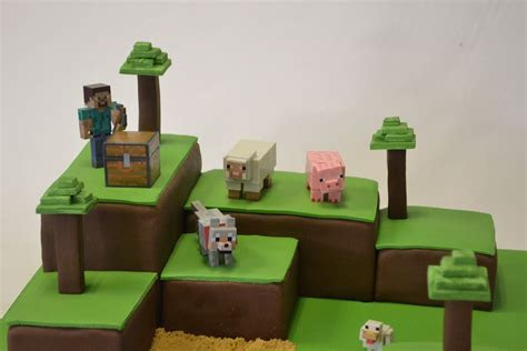 Minecraft Island Cake   Boys Birthday Cakes   Celebration