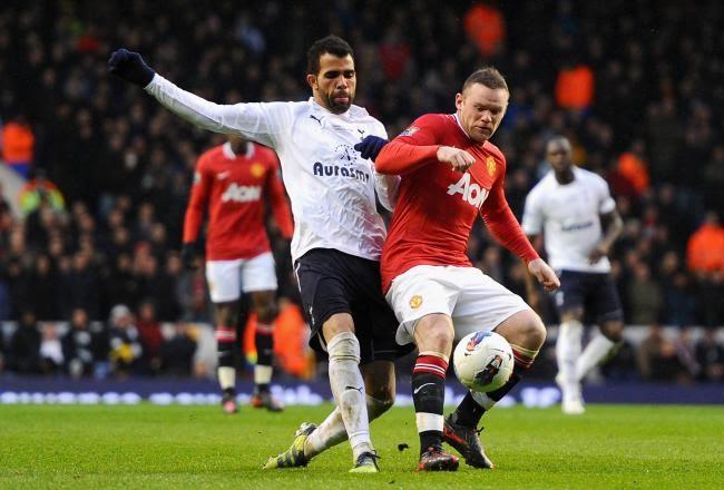 Manchester United vs Tottenham 2-3 Highlights 2012 Vertonghen Bale Nani Kagawa Dempsey Goals Video