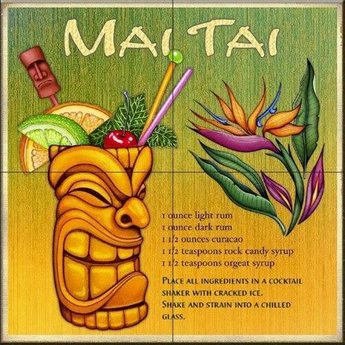 Drink recipe mai taiby dan morris kitchen backsplash for Cn mural designs