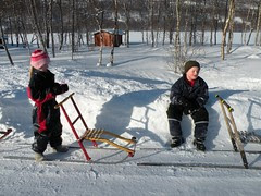 kick-sled ride
